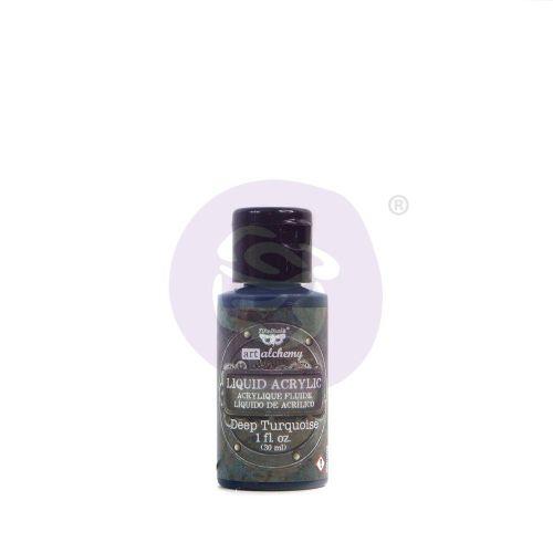 Prima Marketing Art Alchemy Liquid Acrylic Paint Deep Turquoise