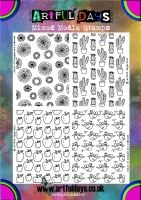 Artful Days Set of 4 Rubber Background Stamps. SAVE £7.00
