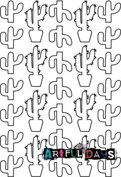Artful Days A5 Stencils - Cacti