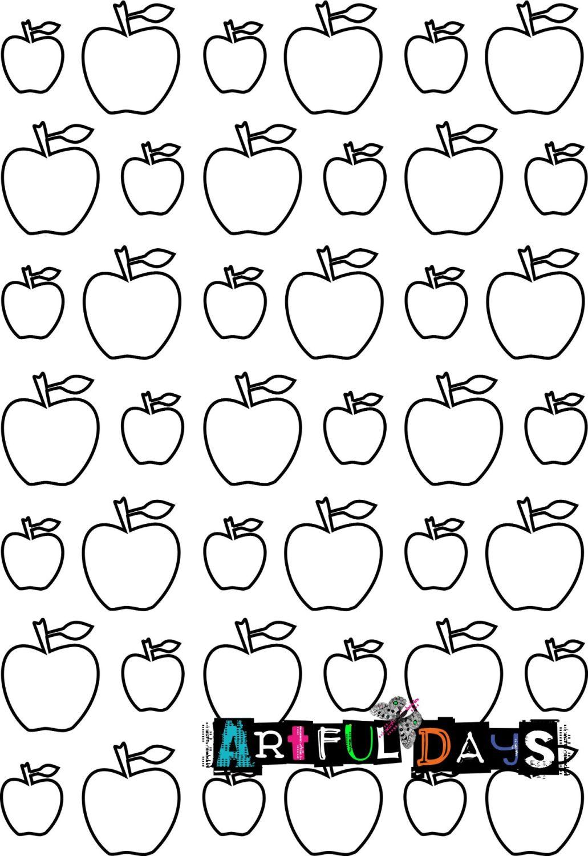 Artful Days A5 Stencils - Apples