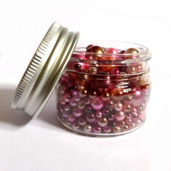 No Hole Mermaid Beads - Rose