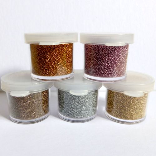 Metallic Micro Beads Set - Vintage