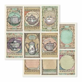 Stamperia Alice 12x12 Inch Paper Sheet Tea Time (SBB583)