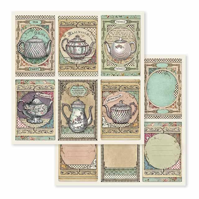 Stamperia Tea Time 12x12 Inch Paper Sheet (SBB583)