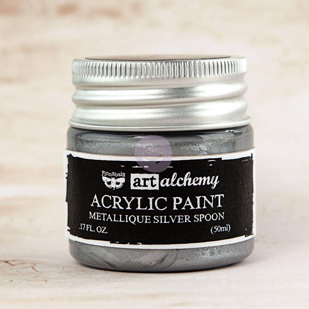 Prima Art Alchemy Acrylic Paint - Silver Spoon