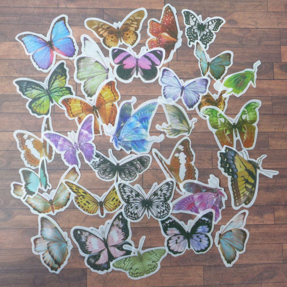 Beautiful Butterflies Washi Tape Stickers (PA008)