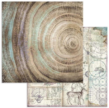 Stamperia Cosmos Knots 12x12 Inch Paper Sheet (SBB616)