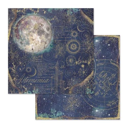 Stamperia Cosmos Astral 12x12 Inch Paper Sheet (SBB614)