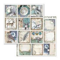 Stamperia Cosmos Cards 12x12 Inch Paper Sheet (SBBL613)