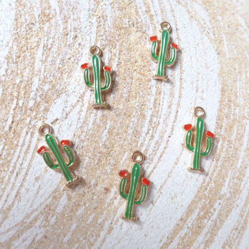 Tiny Cactus Charms (C017)
