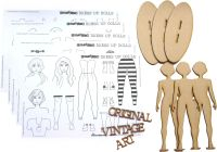 MDF Dress Up Dolls Set