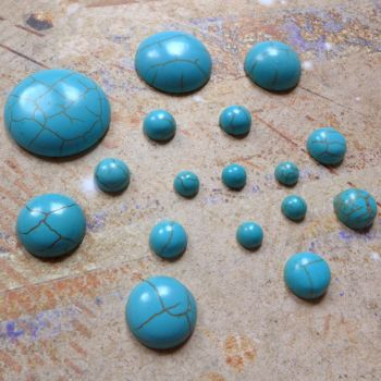 Cracked Turquoise Cabochons (CA3005)