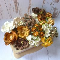 Artful Days Boxed Flowers - Colour Blend Browns