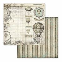 Stamperia Voyages Fantastiques Air Balloon 12x12 Inch Paper Sheet (SBB599)