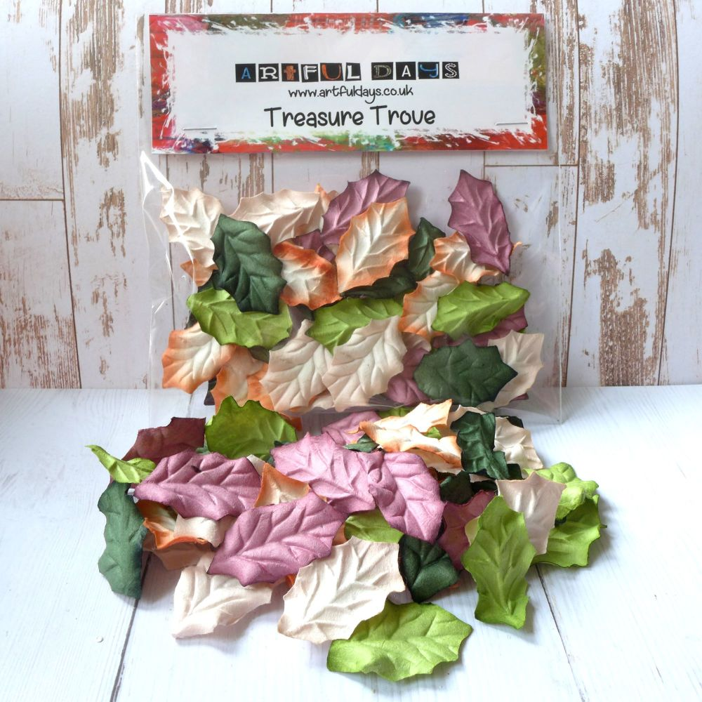 Mulberry Paper Leaves -  Multi Tone Autumnal Colours