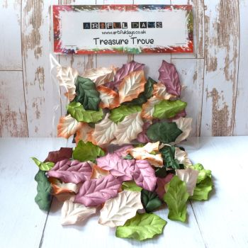 Mulberry Paper Leaves - Multi Tone Autumnal Colours (PF001)
