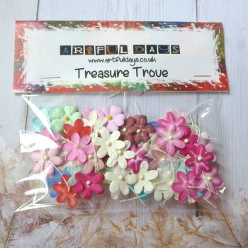 Assorted Colour Flat Paper Flowers