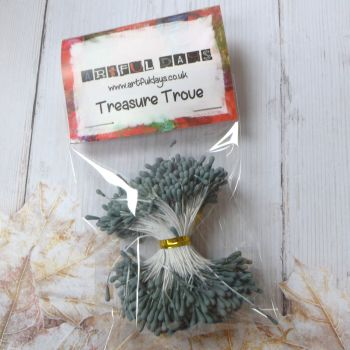 Stamens for Flower Centres - Vintage Matt  Grey