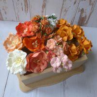 Artful Days Boxed Flowers - Colour Blend Orange