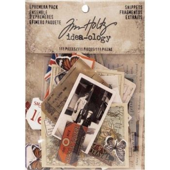 Idea-ology Tim Holtz Ephemera Pack Snippets (111pcs) (TH93564)