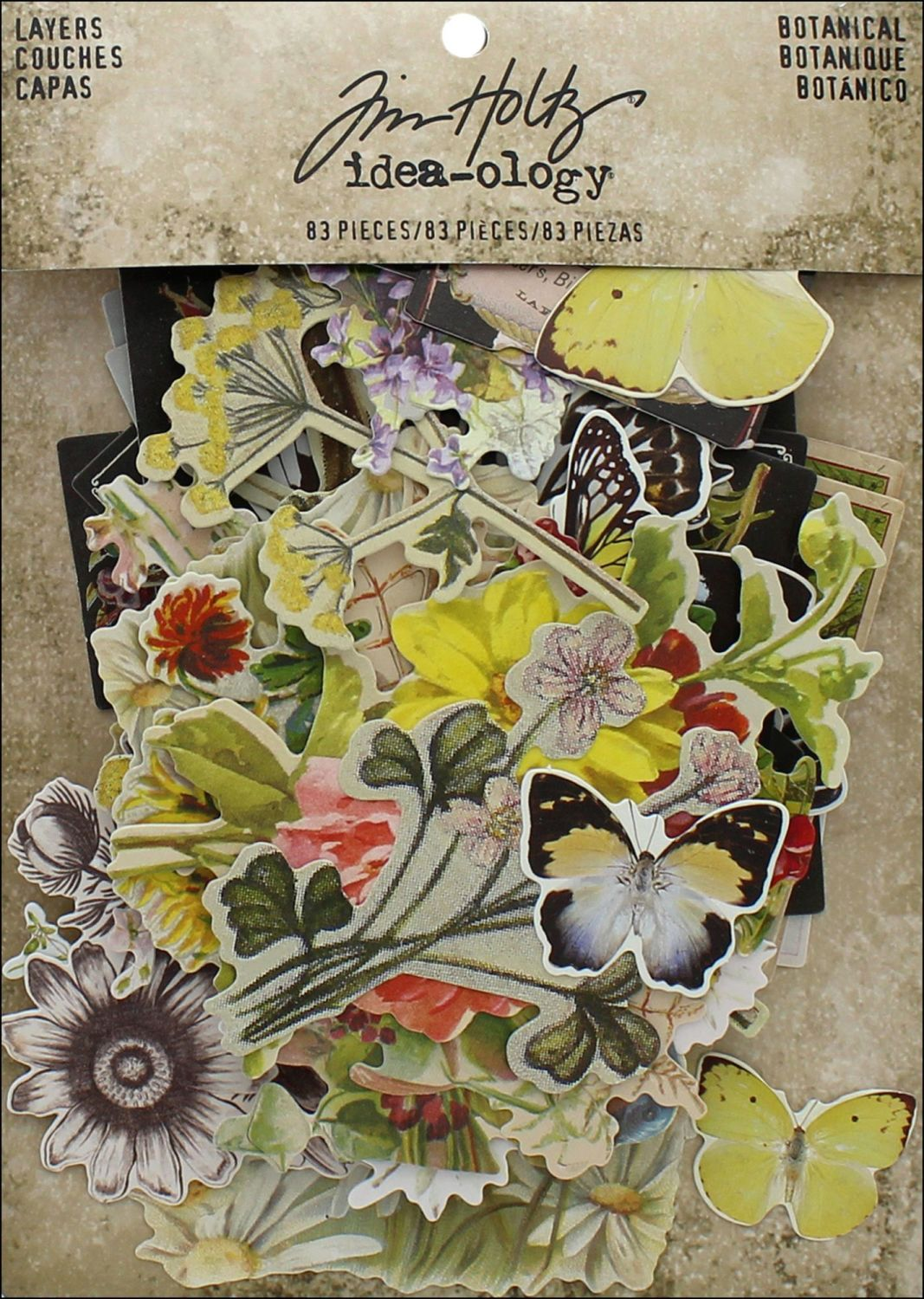 Idea-ology Tim Holtz Layers Botanicals (83pcs) (TH93554)