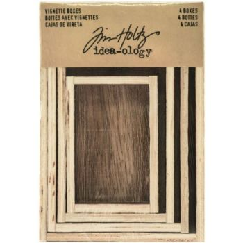 Idea-ology Tim Holtz Vignette Boxes (4pcs) (TH93279)
