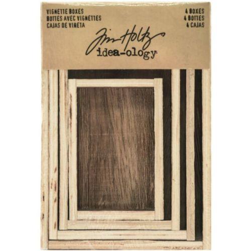 Idea-ology Tim Holtz Vignette Boxes (4pcs) (TH93279)