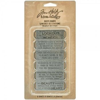 Idea-ology Tim Holtz Quote Bands (6pcs) (TH93290)