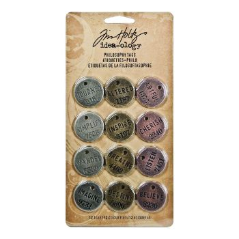 Idea-ology Tim Holtz Philosophy Tags (12pcs) (TH92678)