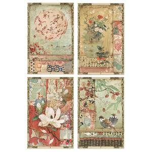 Stamperia Rice Paper A4 Japanese Postcards (DFSA4396)