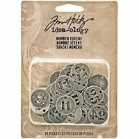 Idea-ology Tim Holtz Number Tokens (31pcs) (TH93244)