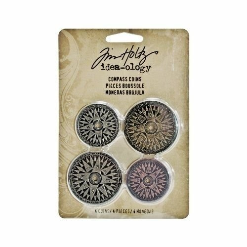 Idea-ology Tim Holtz Compass Coins (4pcs) (TH93061)
