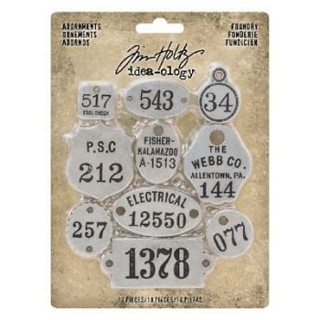 Idea-ology Tim Holtz Adornments Foundry (10pcs) (TH93690)