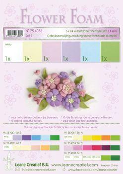 Leane Creatief Flower Foam A4 - Set 1 Pastel