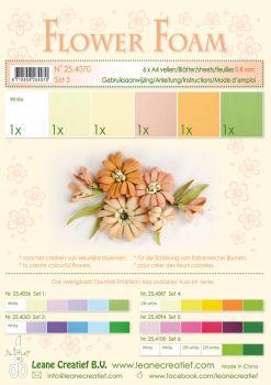 Leane Creatief Flower Foam A4 - Set 3 Salmon