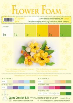 Leane Creatief Flower Foam A4 - Set 4 Yellows