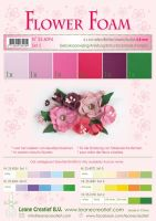Leane Creatief Flower Foam A4 - Set 5 Red-Pink