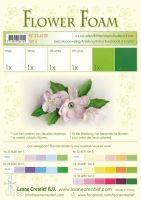 Leane Creatief Flower Foam A4 - Set 6 White-Green