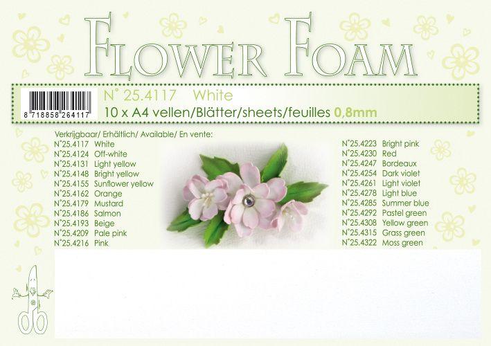 Leane Creatief Flower Foam Sheets 10 Pack A4 - White