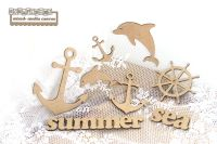 Scrapiniec MDF - Marin, Sea Embellishment Set