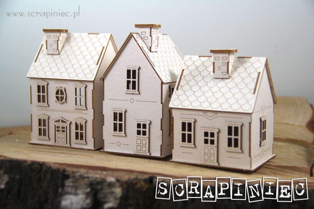 Tiny Village 3D Set of 3 Houses (5592)