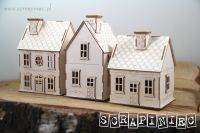 Tiny Village 3D Set of 3 Houses (5592)