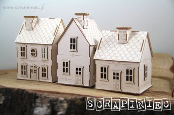 House - Tiny Village 3D Set of 3 Houses (5592)