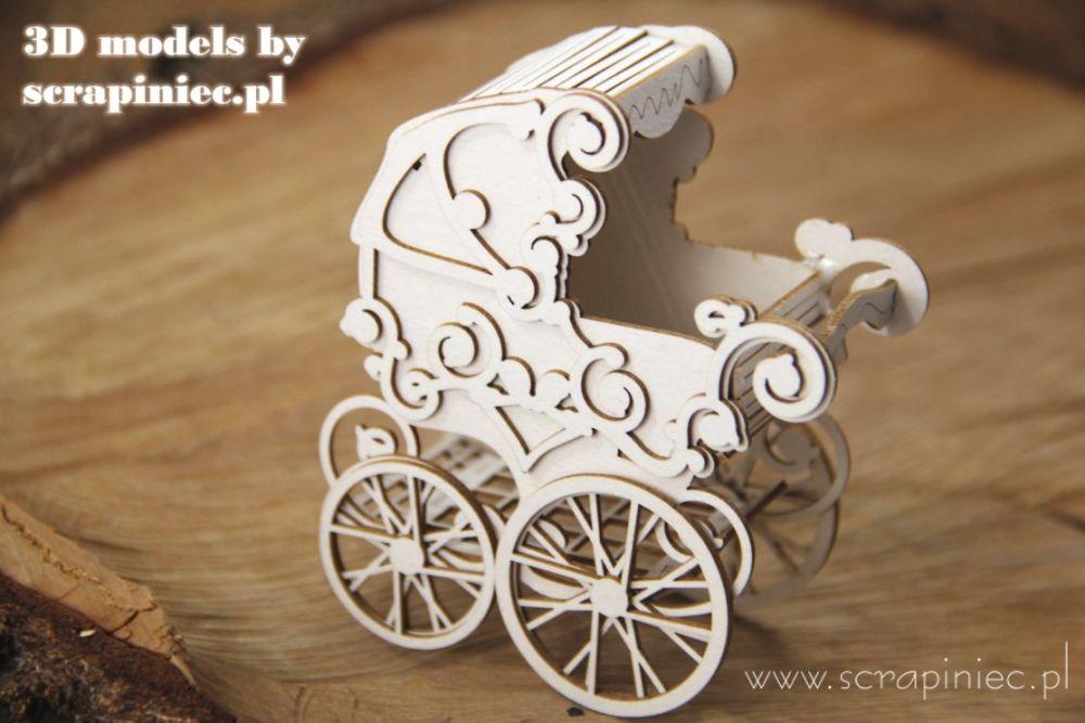 3D model - Baby Stroller (5594