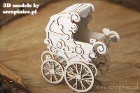 3D model - Baby Stroller/Pram (5594