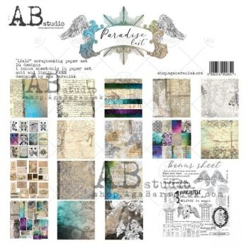 """Paradise Lost"" Scrapbooking Paper 12 x 12"" + 1 Bonus Sheet Set"