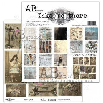 """""""Take me there"""" - Paper 12 x12"""" + 1 Bonus Sheet Set"""