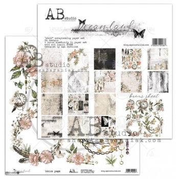 """Dreamland"" - Scrapbooking Paper 12 x12"" + 1 Bonus Sheet Set"