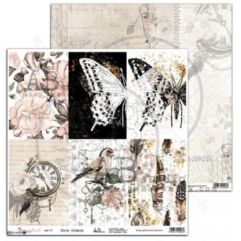 """""""Dreamland"""" Scrapbooking Paper 12 x 12""""- Have dreams (15/16)"""