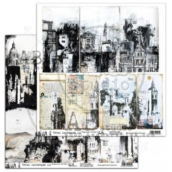 "Elements - Scrapbooking Paper 12 x 12"" - ""Urban Landscapes"" no.2"